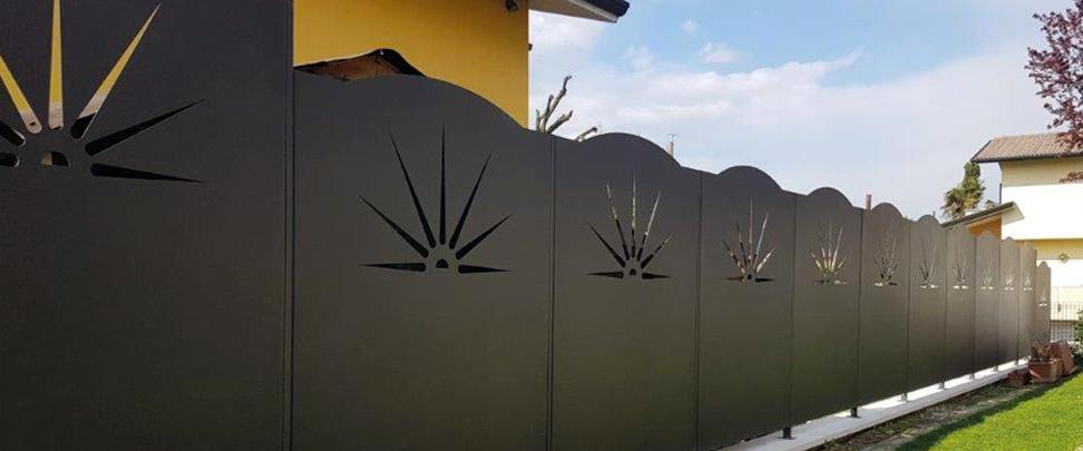 trattamenti taglio laser per recinzioni